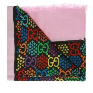 Gucci GG Psychedelic Scarf in Pink